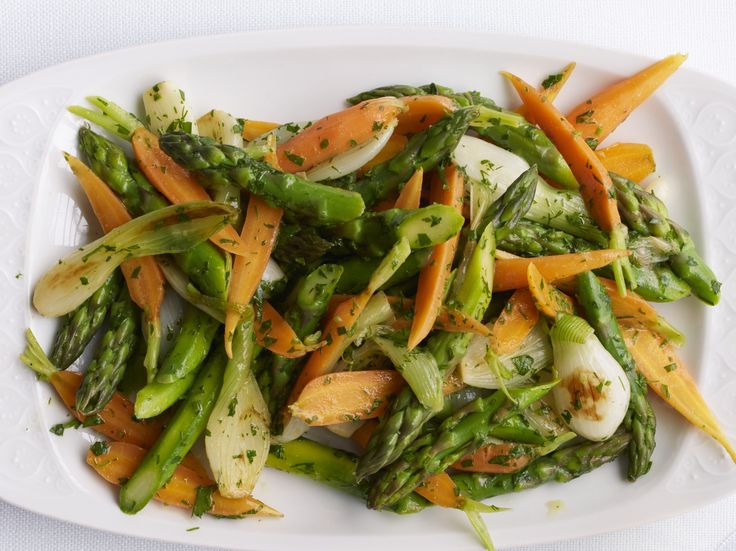 Spring Vegetables with Warm Vinaigrette recipe from Food Network Kitchen via Food Network