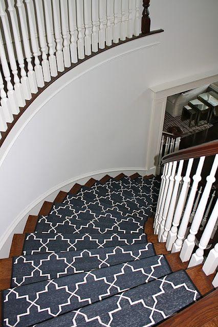 Madeline Weinrib Custom Black Amp White Stair Runner Design