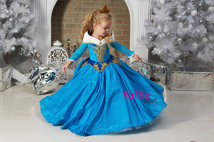Princess Aurora dress Disney sleeping beauty Halloween costume for girl beautiful flower girl gown make it blue bithday party ideas gift Briar Rose #disney #disneyland #disneyprincess #princessaurora #sleepingbeauty #flowergirl #beautiful #princessdress #wedding #birthday Blue Aurora dress #halloween #halloweencostume #medieval medieval costume photo prop outfit #beautiful fairytale fantasy