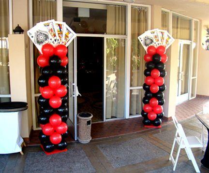 Casino theme party balloon columns                                                                                                                                                                                 More