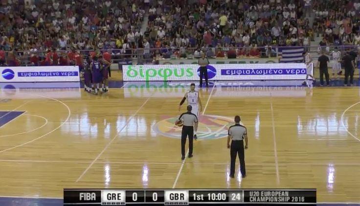 EOK - FIBA U20 | Live ΕΛΛΑΔΑ - Μεγάλη Βρεατανία  (GRE-GBR 20.07.2016 18.45) Ευρωπαϊκό Πρωτάθλημα στην Χαλκίδα