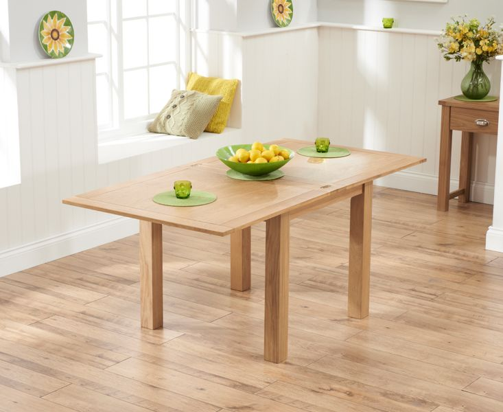 Buy The Somerset 90cm Flip Top Oak Dining Table With Vermont Chairs At Furniture Superstore