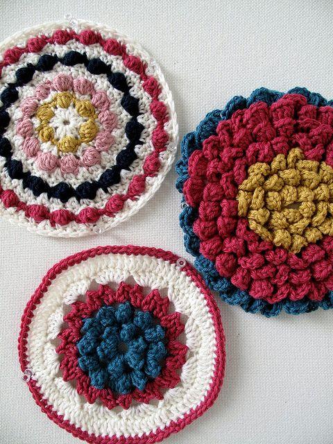 MotifsRandom Crochet, Crafts Crochet, Crochet Pots, Crochet Potholders, Crochet Motif, Crochet Iii, Crochet Pattern, Crochet Knits, Crochet Inspiration
