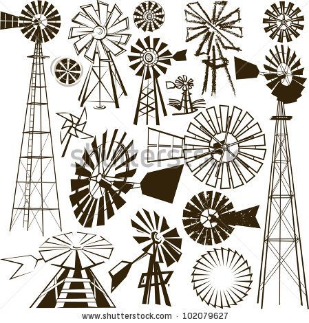 stock vector : Windmill Collection