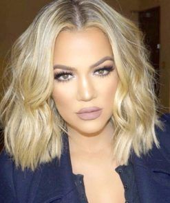 Khloe Kardashian- Layered Bob - Custom Celebrity Lace Wig  a94888bbc