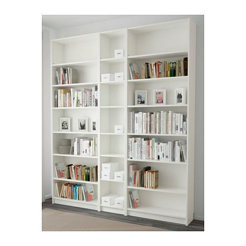 """BILLY Bookcase - white, 200x237x28 cm - IKEA Product dimensions Width: 78 3/4 """" Depth: 11 """" Height: 93 1/4 """""""