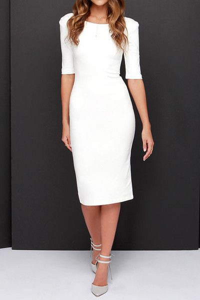 Exec Dress in White – Saule Boutique