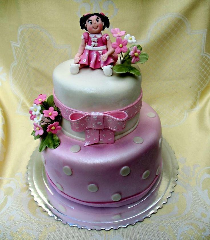 torta s dievčatkom