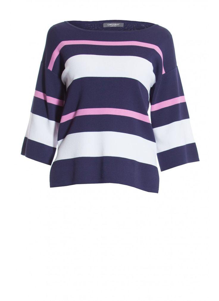 La maglia a righe Maid è la scelta indicata dei look casual ma di stile. Lo scollo a barca e le ampie maniche a tre quarti la rendono facile da abbinare a jeans e pantaloni aderenti.