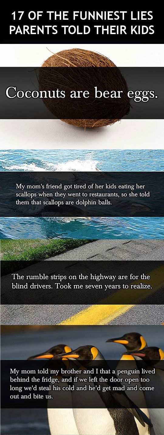 The Funniest Lies Parents Told Their Kids