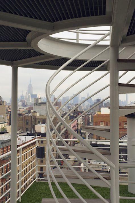Lower East Side Manhattan Observation Deck by Robert Kahn.