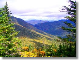 Fall foliage - View from Mt Mansfield overlooking Smugglers' Notch State Park