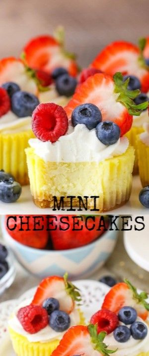 MINI CHEESECAKES  These Mini Cheesecakes are heavy silken and creamy with a shor…