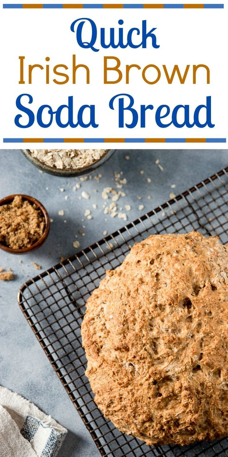No meal in Ireland is complete without a loaf of Irish Brown Bread on the table! This no knead, no yeast Irish Brown Bread recipe is hearty, with a wheaty sweetness that just needs a slather of good Irish butter! #bread #irishbrownbread #sodabread #ireland #irish