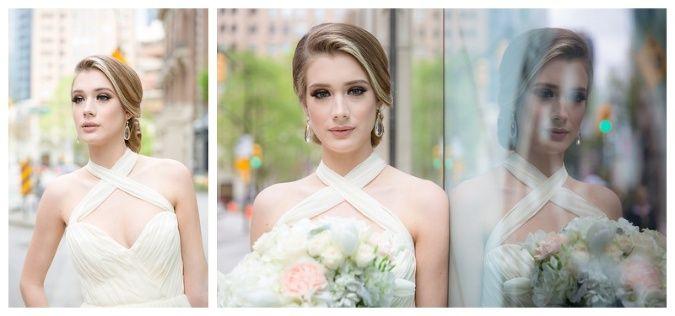 Brooklyn Designs Alba bridal earrings.