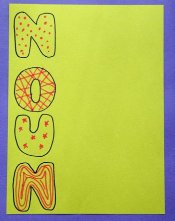 If helping your child learn parts of speech makes you want to take a nap, try this  exercise. It's a sure way to keep those creative juices flowing.