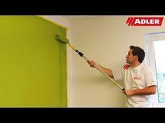 Wände farbig streichen, Tipps saubere Kanten - ADLER - YouTube
