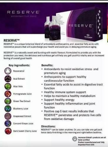 RESERVE™    #Nutrition #Giftideas #health #healthyliving #Energy #SleepBetter #Antioxidants #vitamins #Resveratrol #DNARepair #supplements #bestsupplements #immunesystemsupport #organicsupplements #energy #antiaging #Jeunesse #managebodyfat  https://skygazer.jeunesseglobal2.com/products.aspx?p=RESERVE