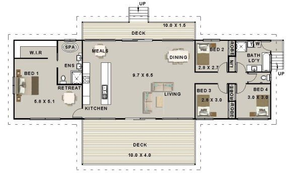 4 Bedroom Pole House Plan