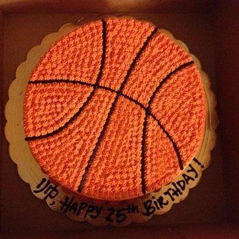 Basketball shape birthday cake | Yelp