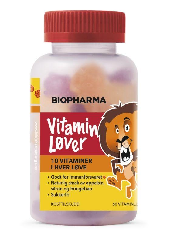 Vitaminløver 60 Stk - Sunt og godt for barna