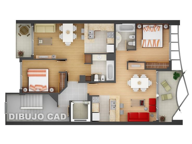 Charmant Free 3D Floor Plan... Free Lay Out Design For Your House Or Apartment...  Get Inspiration From These Free Online 3D Floor Plan | Good Studio Layout  ...