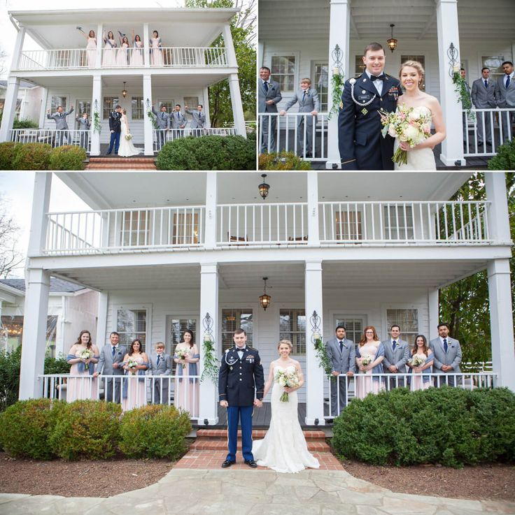 In love with the color theme of this wedding! #blush #grey #navy #military #wedding #bridalparty #cedarwoodweddings @cedarwoodwed Photo by Krista Lee Photography