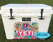 Yeti Roadie orTundra Cooler Wrap Decal.  Custom Yeti Cooler Decal.  3M Wrap Decal Personalized.Roadie 20,Tundra 35,45,50. Chevron
