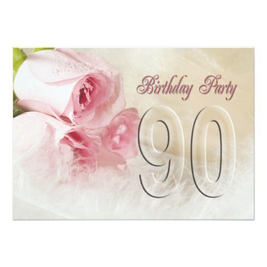 Invitación De La Fiesta De Cumpleaños Por 90 Años Zazzle