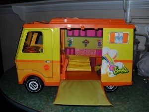 I was in heaven when Santy brought this to me when I was 11...Malibu Barbie Camper