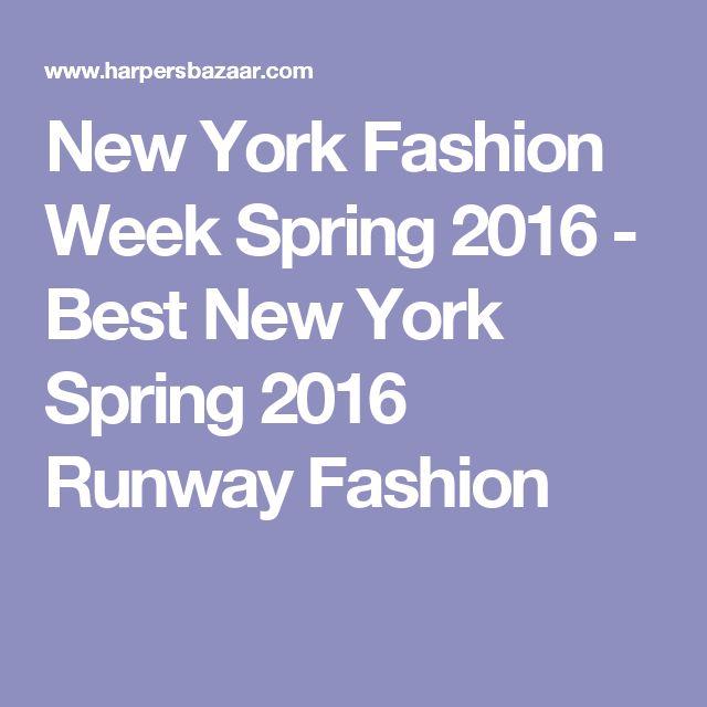 New York Fashion Week Spring 2016 - Best New York Spring 2016 Runway Fashion