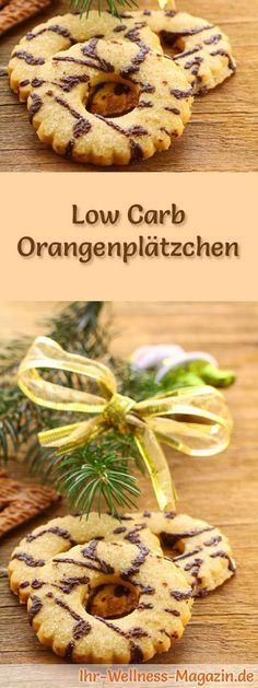 Low-Carb-Weihnachtsgebäck-Rezept für Orangenplätzchen: Kohlenhydratarme, kalorienreduzierte Weihnachtskekse - ohne Getreidemehl und Zucker gebacken ... #lowcarb #backen #weihnachten