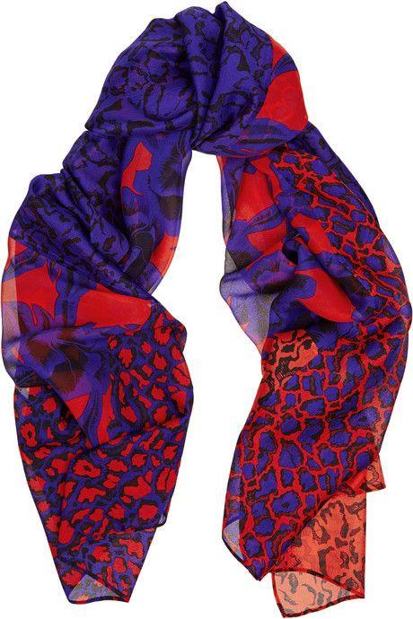 Diane von Furstenberg New Boomerang printed silk scarf