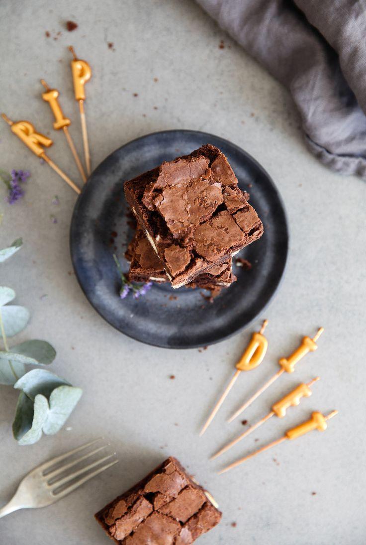 Bestes Brownies Rezept mit Kinderriegel Stücken Zuckerzimtundliebe Backblog…