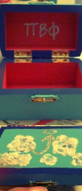 Pi Phi DIY pin box craft #piphi #pibetaphi