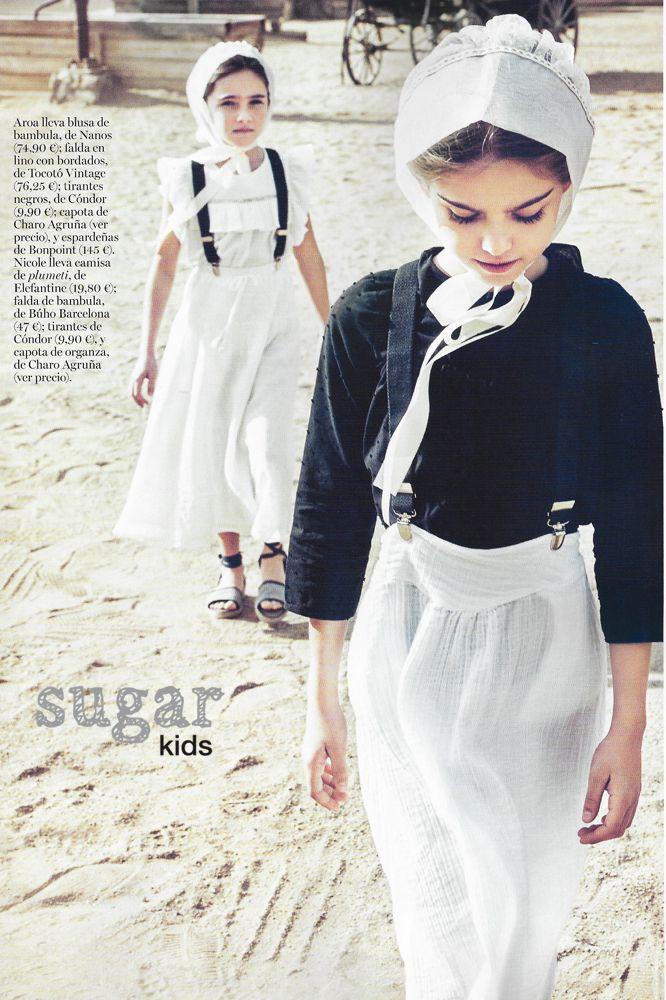 Nicole y Aroa de Sugar Kids para Vogue Niños