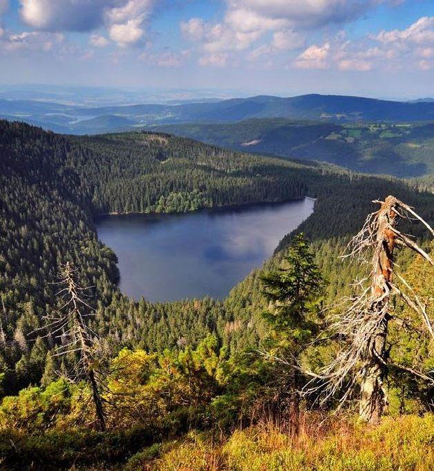 Černé jezero (Black Lake) in Šumava mountains, Czechia #lake #Czechia #landscape…