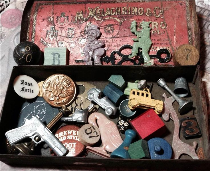 Vintage Cracker Jack Prizes 1940 S Monopoly Game Pieces