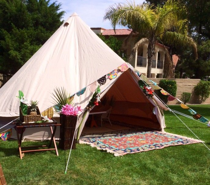 This tiki tent by Stout Tent was rented out for the Lakeside Luau thrown for a & 68 best Glamping w/Stout Tent images on Pinterest | Tents Glamping ...