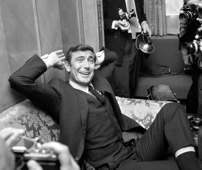 October 7, 1968: Australian actor George Lazenby is introduced at a press…