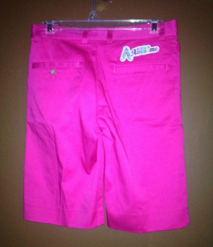 Royal And Awesome Bright Pink Women's Golf Shorts Size 8 UK #royalandawesome #Shorts