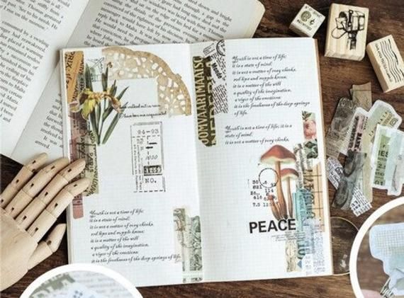 Washi Vintage Postage Tape Sticker Pack Laptop Stickers Cute
