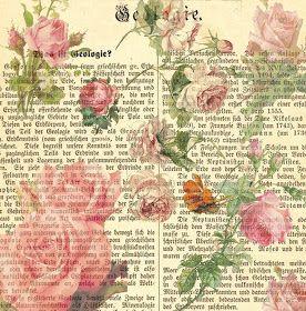12 x 12 Inch Vintage Pink Roses Printable