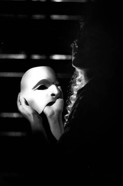 The phantom of the opera is there inside your mind. (This pic gave me chills... Only a Phan would understand o.o)