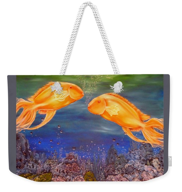 Weekender Tote Bag,  blue,colorful,cool,beautiful,fancy,unique,trendy,artistic,awesome,fahionable,unusual,accessories,for,sale,design,items,products,gifts,presents,ideas,fish,underwater,scene