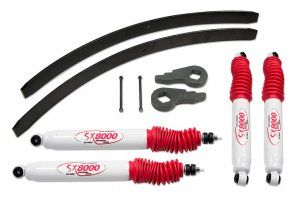 "Chevy / GMC 1500 Silverado & Sierra 4wd2"" Suspension Lift Kit. Fits years 1996-06. Includes front torsion bar keys, rear add-a-leafs and hardware. Provides 2"" of lift in the front and 1.5"" in the rear. Find this kit at http://www.sdtrucksprings.com/tuff-country-12923-2-in-lift-kit-1999-2006-4wd-chevy-silverado. Starting at $194.95"