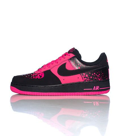 NIKE Air Force Ones Low top mens sneaker Lace up closure Iridescent NIKE  swoosh on sides