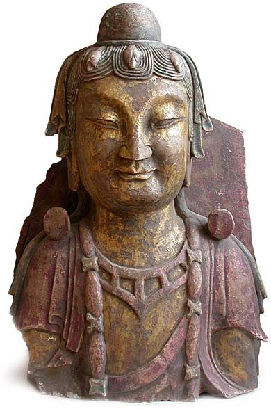 Maitreya Buddha, Wei Dynasty, 4th-6th Century,Chinese Gilt White Marble Stone