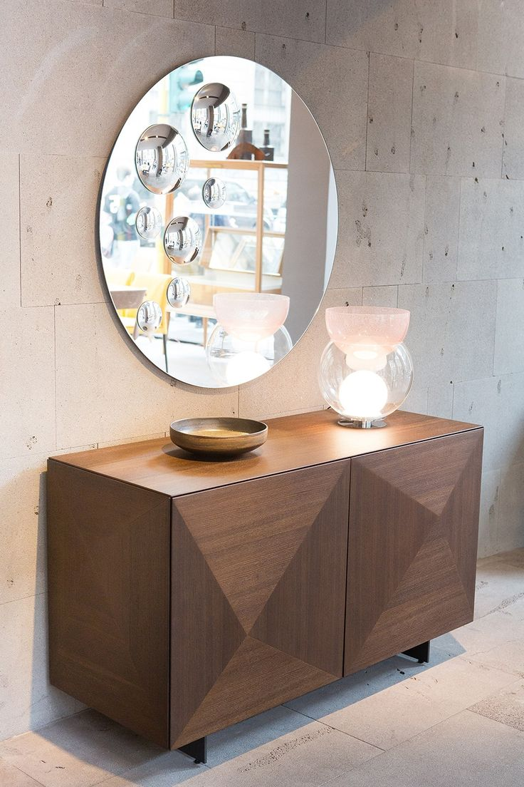Mirror LE SFERE: round mirror with internal application mirror effect sphere.