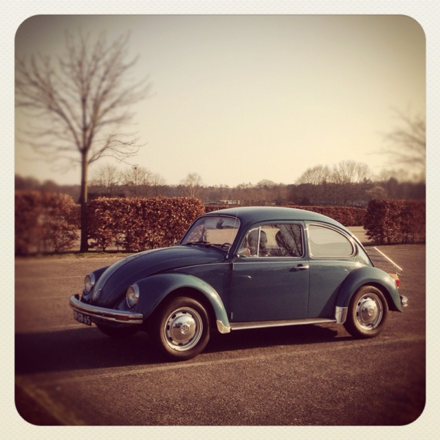 early in Spring....On the road with the beeldSTEIL #beetle :-)